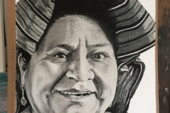 Homenage a Rigoberta Menchú.